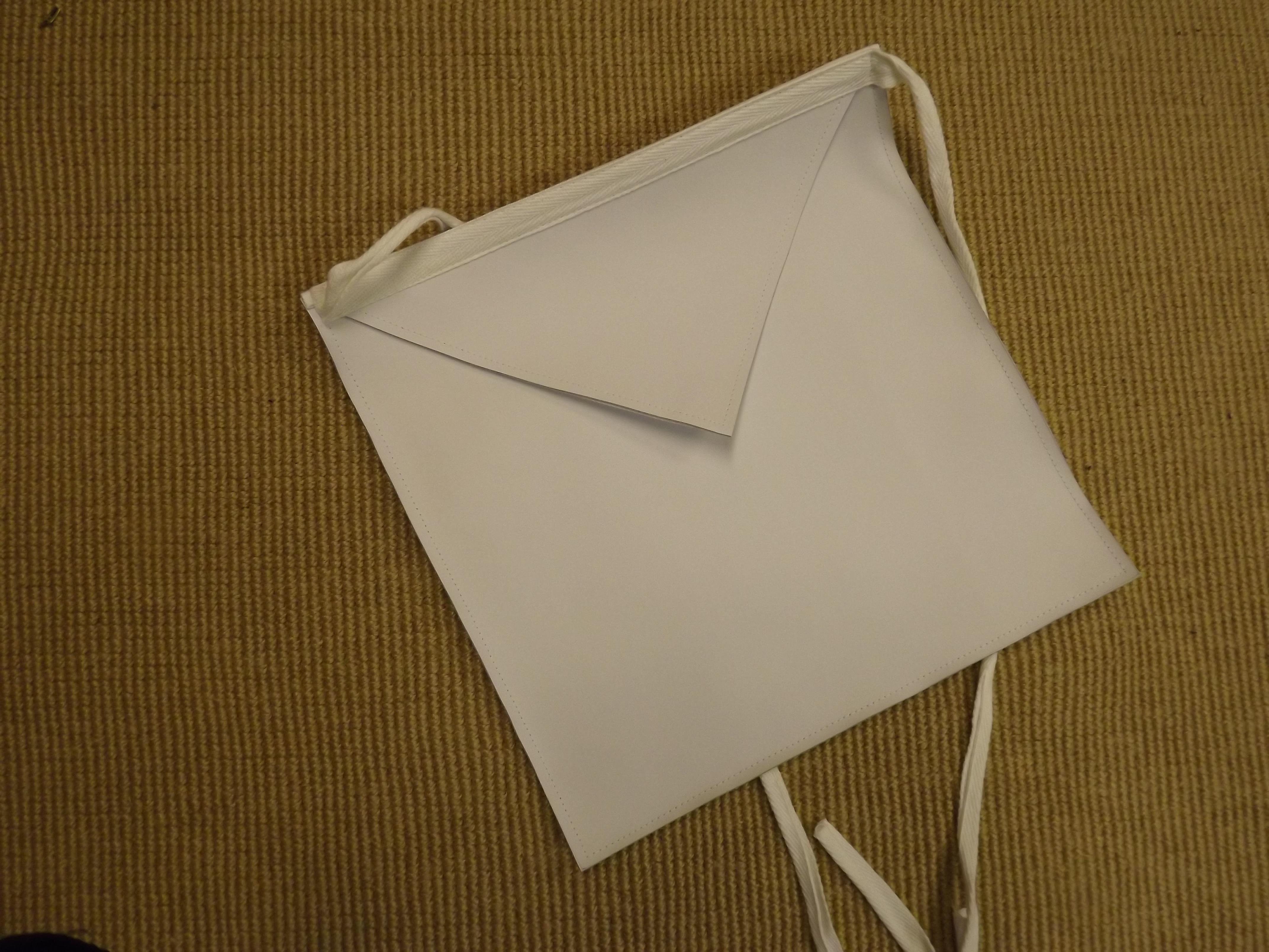 White apron freemason -  White Leathern Aprons 33 00